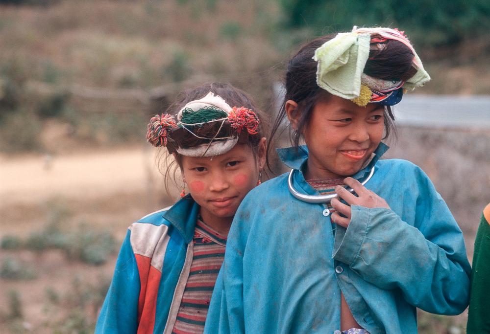 Bergvölker in Laos: Akha, Hmong, Lahu, Karen, Mien
